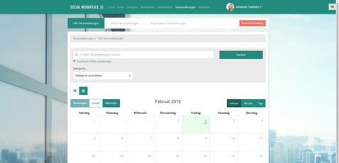 CONTENS Social Workplace Kalender