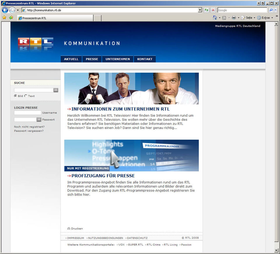 RTL Kommunikation Screenshot