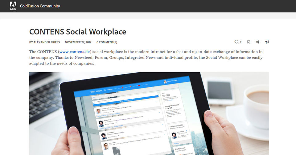 CONTENS Social Workplace in der Adobe ColdFusion Community