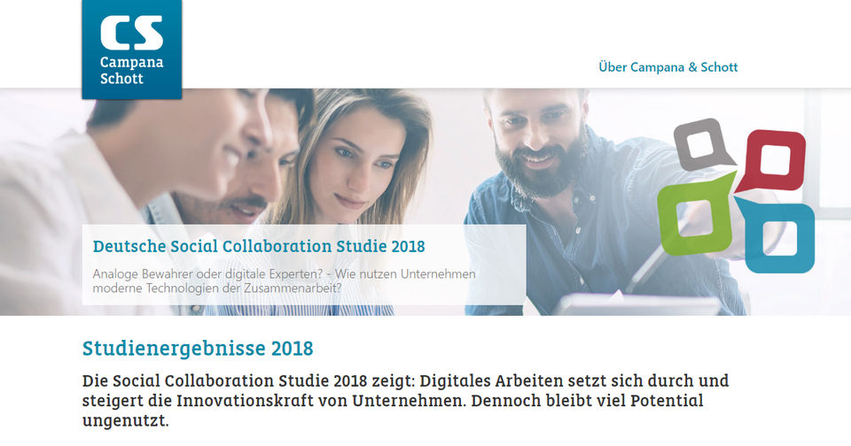 Screenshot Deutsche Social Collaboration Studie