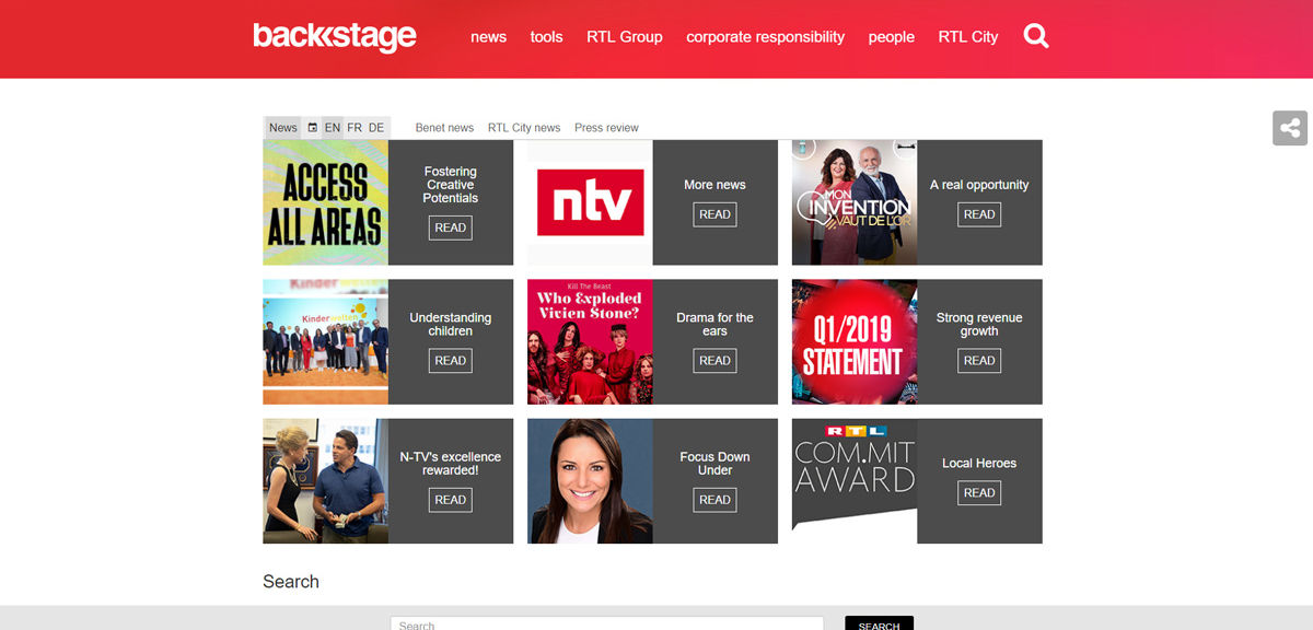 RTL Group Backstage News