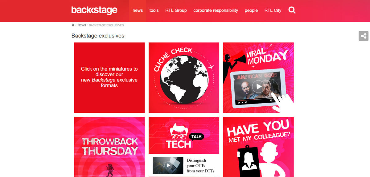 RTL Group Backstage Exclusives