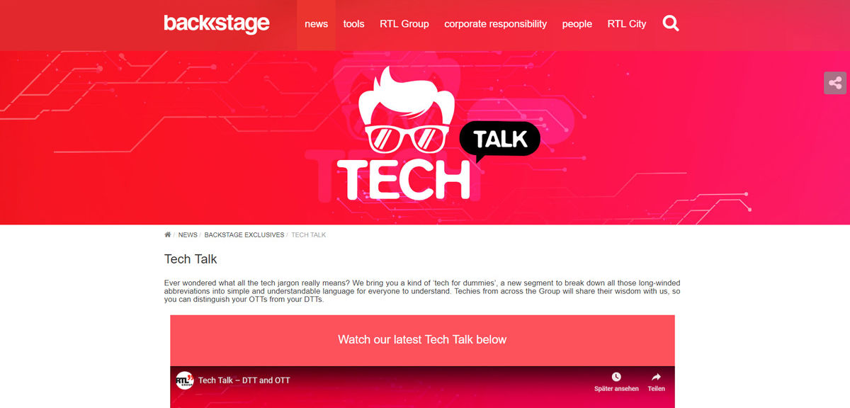 RTL Group Backstage Tech Talk