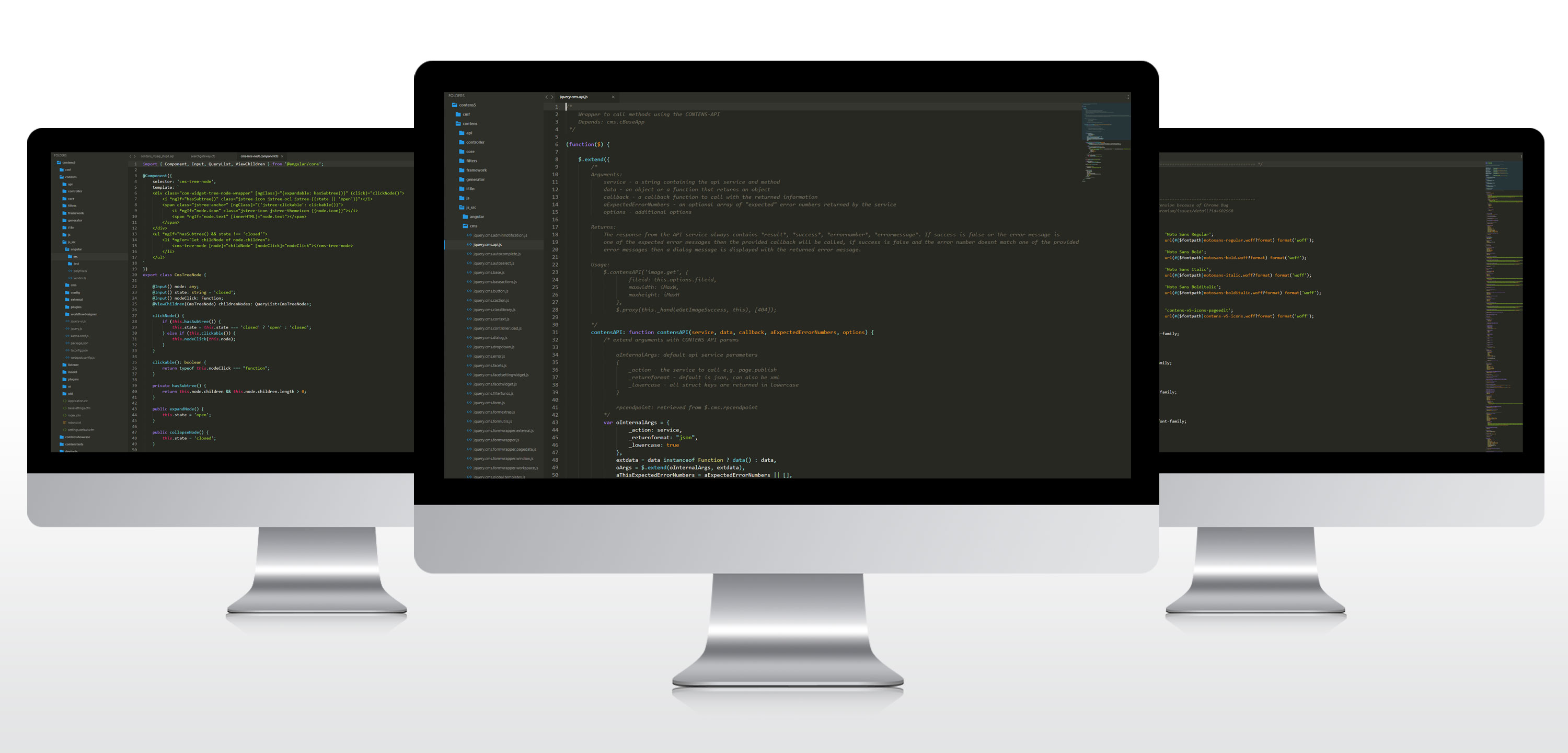 iMac with Code Editor